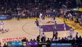 Lakers Player Fakes An Injury To Lose His Defender, Strolls Back In For An Easy Dunk