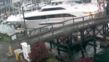 125-Foot Luxury Yacht Plows Into A Marina Full Of Boats