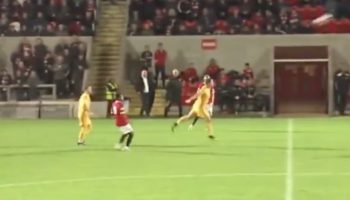 Soccer Player Scores From His Own Half — With A Header