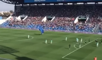 Man Parachutes Right Into The Middle Of A Soccer Game In Italy