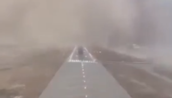 This Is What It's Like To Land A Plane In The Middle Of A Sandstorm