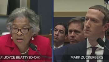 Mark Zuckerberg Looks Uncomfortable As Congresswoman Joyce Beatty Grills Him Over Facebook's Record...
