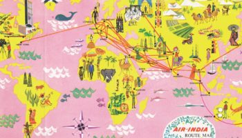 The Rise And Fall Of The Exuberant Airline Map