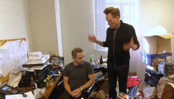 Conan Trolls His Messy Producer By Cutting His Office In Half