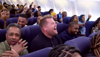Kanye West And James Corden Do Their First Ever Carpool Karaoke On A Frigging Plane