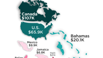 The Median Adult Wealth In Every Country, Visualized