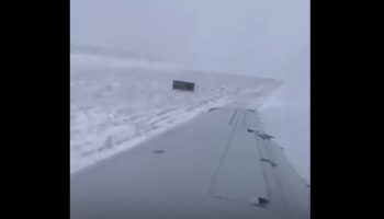 Passenger Films The Moment His Plane Skids Off The Runway At O'Hare Airport