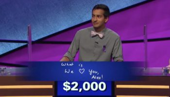 'Jeopardy!' Contestant Nearly Brings Alex Trebek To Tears With Final Jeopardy Message