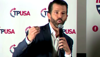 The Embarrassing Moment When Donald Trump Jr Gets Heckled At Book Launch By Trump Supporters