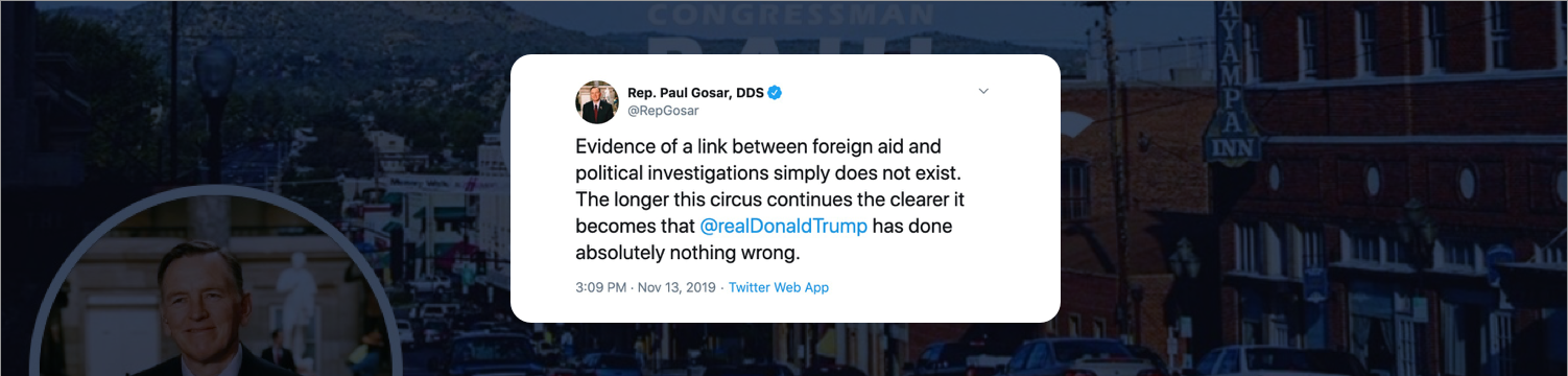 Arizona Congressman Spells Out 'Epstein Didn't Kill Himself' With The First Letter Of 23 Tweets