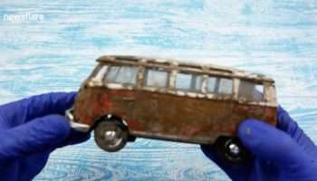 This Restoration Of An Old Rusted Volkswagen Toy Microbus Is Oddly Satisfying