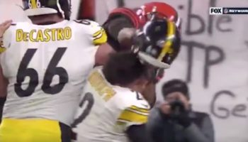 Here's The Crazy Moment The Browns' Myles Garrett Ripped Off Steelers QB Mason Rudolph's Helmet And Hit Him With It