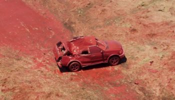 Watch The Raw Power Of A Wildfire Retardant Drop As Seen In This Demonstration On A Truck