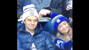 Toronto Maple Leafs Fan Has Hilarious Reaction To His Girlfriend Taking A Selfie