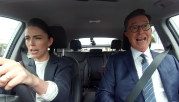 Stephen Colbert And New Zealand's Prime Minister Jacinda Ardern Do Their Own Version Of 'Carpool Karaoke'