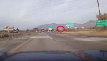 Dash Cam Captures The Moment A Plane Crashes Through A Billboard In Utah