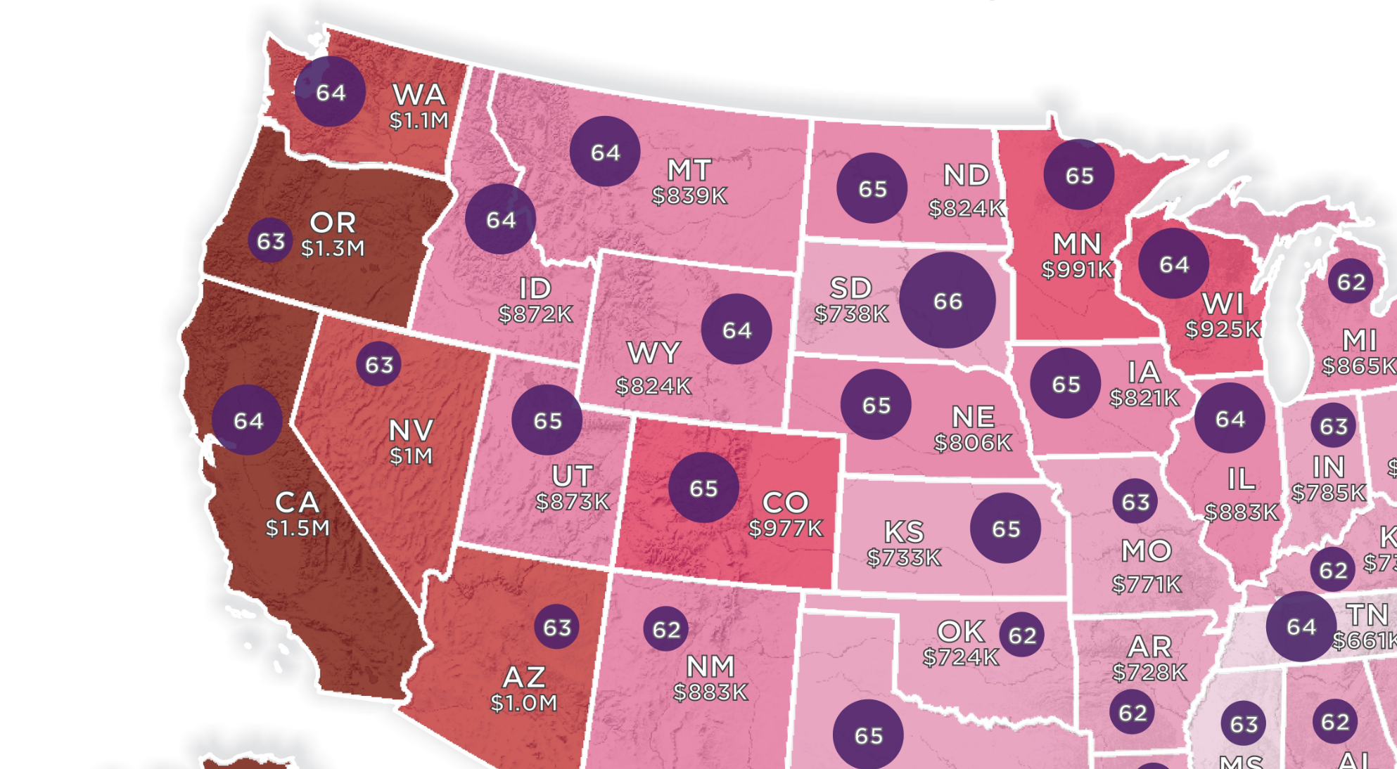 How Much Money You Need To Retire In Each State, Visualized - Digg