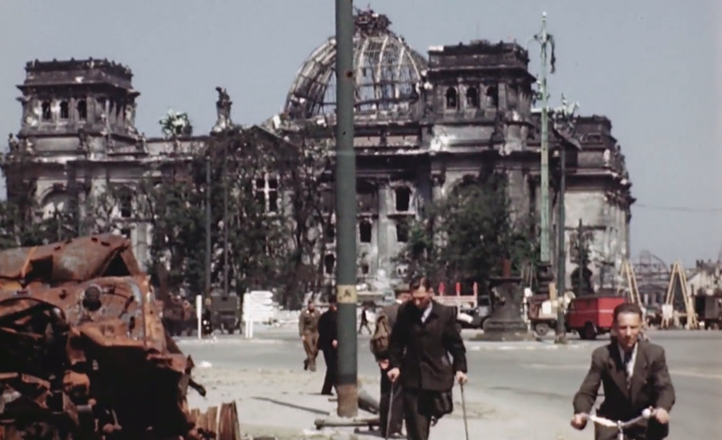 Striking Color Film Footage Of Berlin In July, 1945 Shows How Much The City Was Destroyed In WWII
