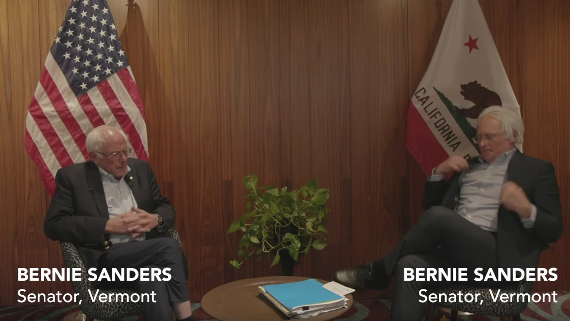 Bernie Sanders Meets With His Impersonator In Hilariously Uncanny Interview