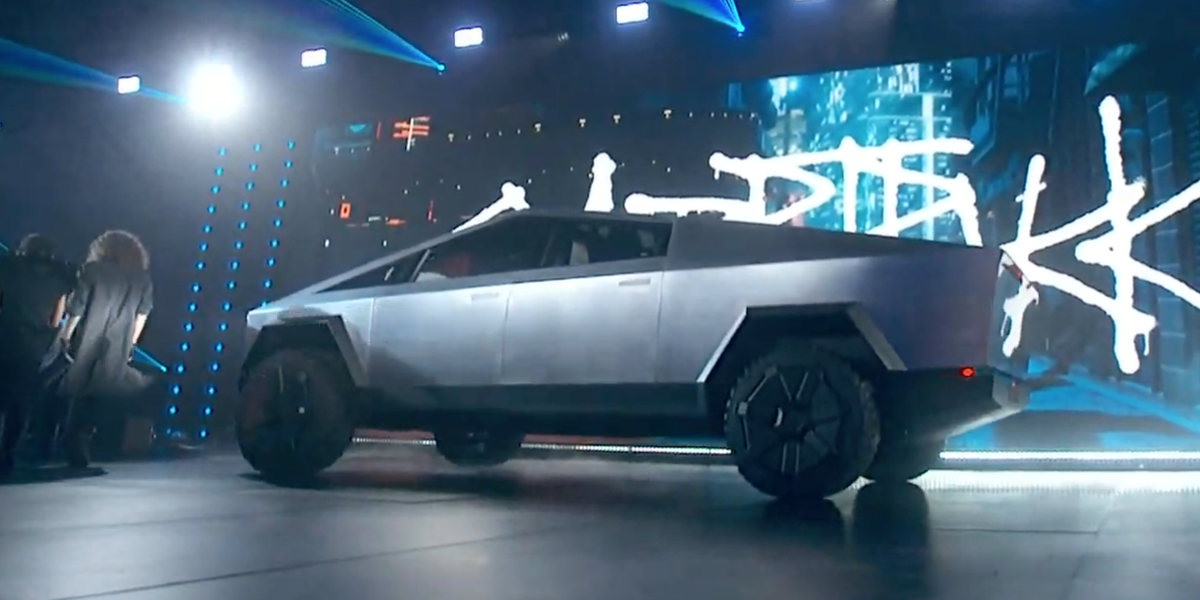 The Tesla Cybertruck Pickup Truck Is Here And It's Wacky