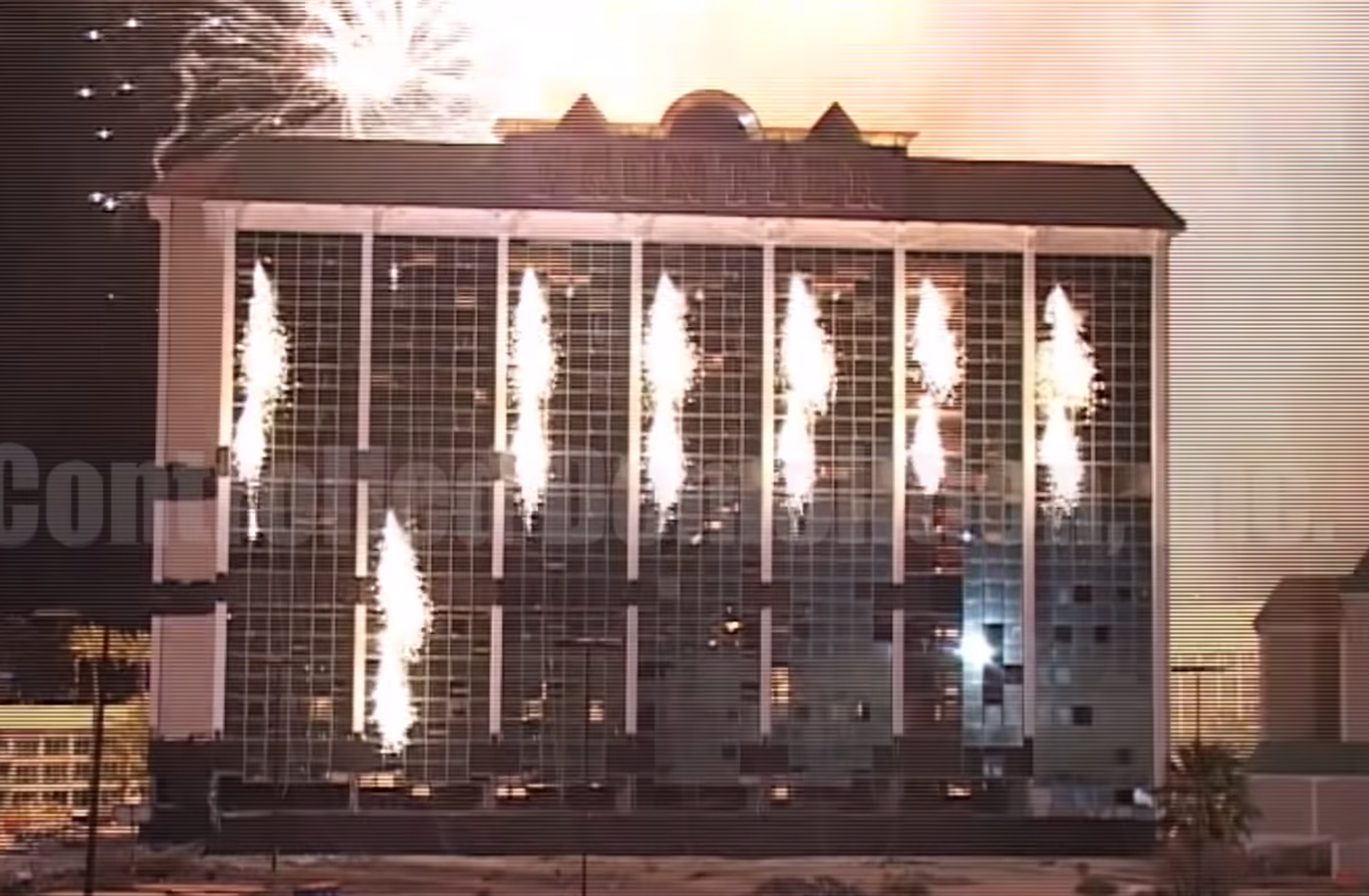 Hotel In Las Vegas Gets Demolished In The Most Las Vegas Way Possible