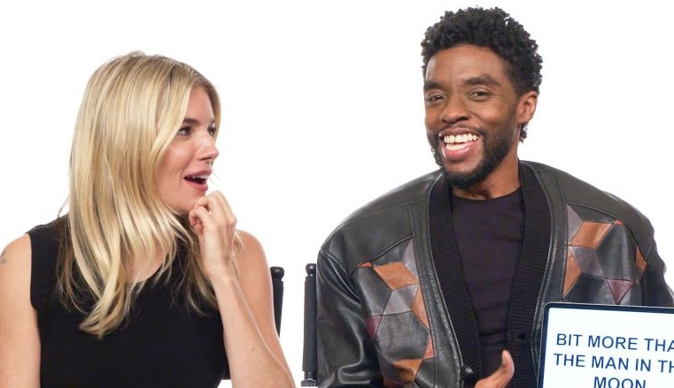 Sienna Miller And Chadwick Boseman Teach Each Other Their Regional Slang