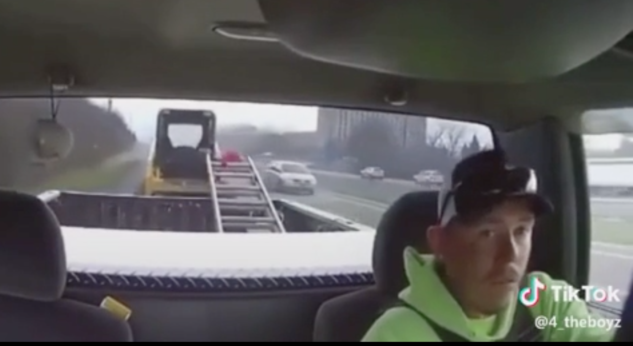 Driver Starts To Lose Control Of The Load Behind His Trailer, Makes An Incredible Save