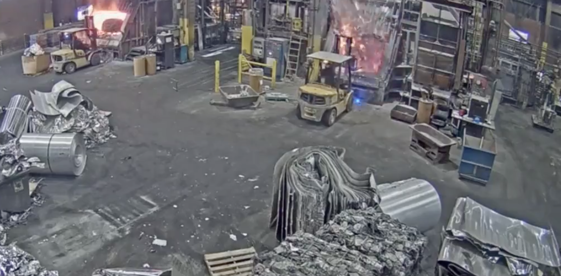 Foundry Worker Puts Wet Scrap Metal Into Furnace. Turns Out That Was A Major Mistake