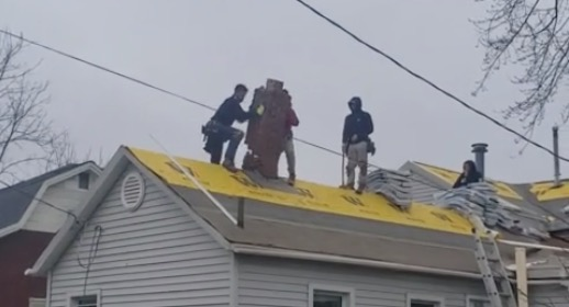 Roofing Crew Tries To Get Rid Of Chimney, Destroys Roof Instead