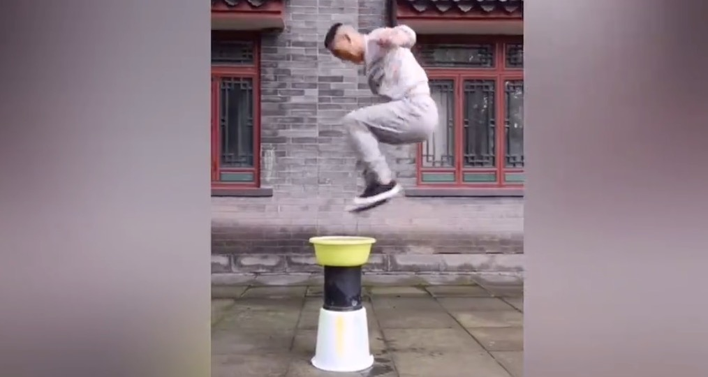 Guy Laughs In The Face Of Gravity, Performs Mind-Bending Double Jump Trick