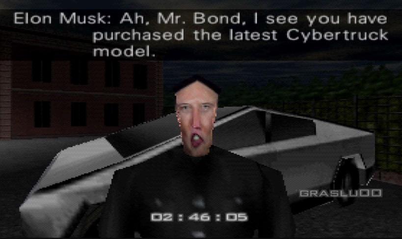 Someone Inserted The Tesla Cybertruck Into Nintendo 64's 'Goldeneye 007'