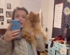 This Girl's Pomeranian Doesn't Know His Owner Is Talking To Him Until She Starts Doing Baby Talk