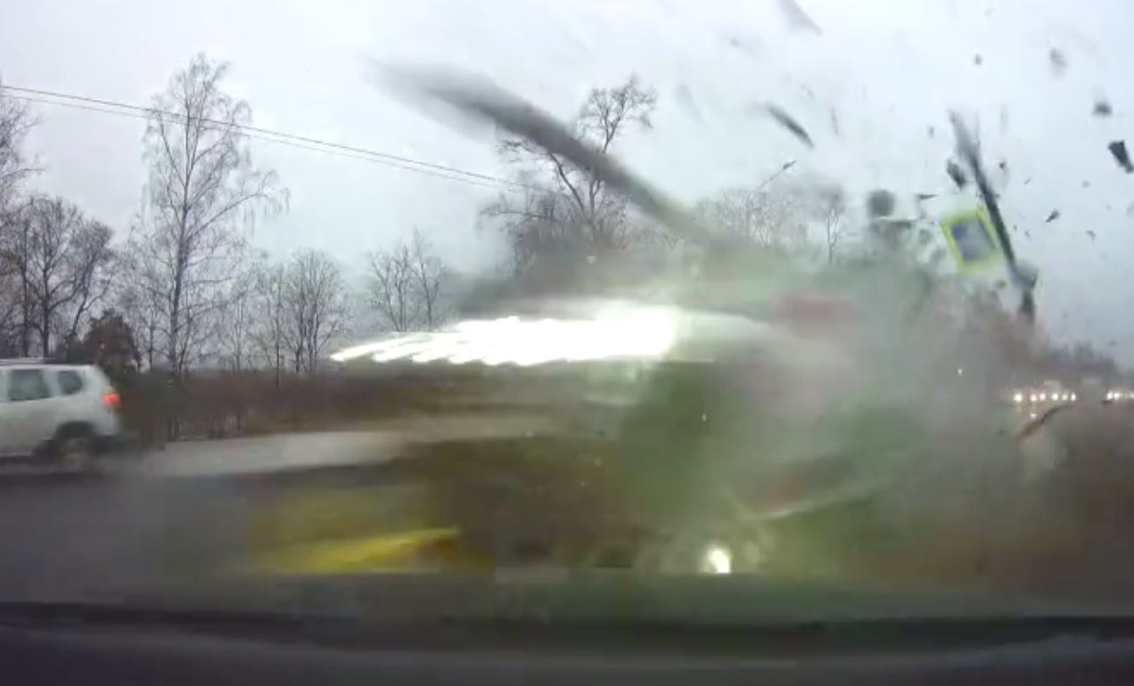 Audi Car On A Test Drive Loses Control, Causes Major Collision