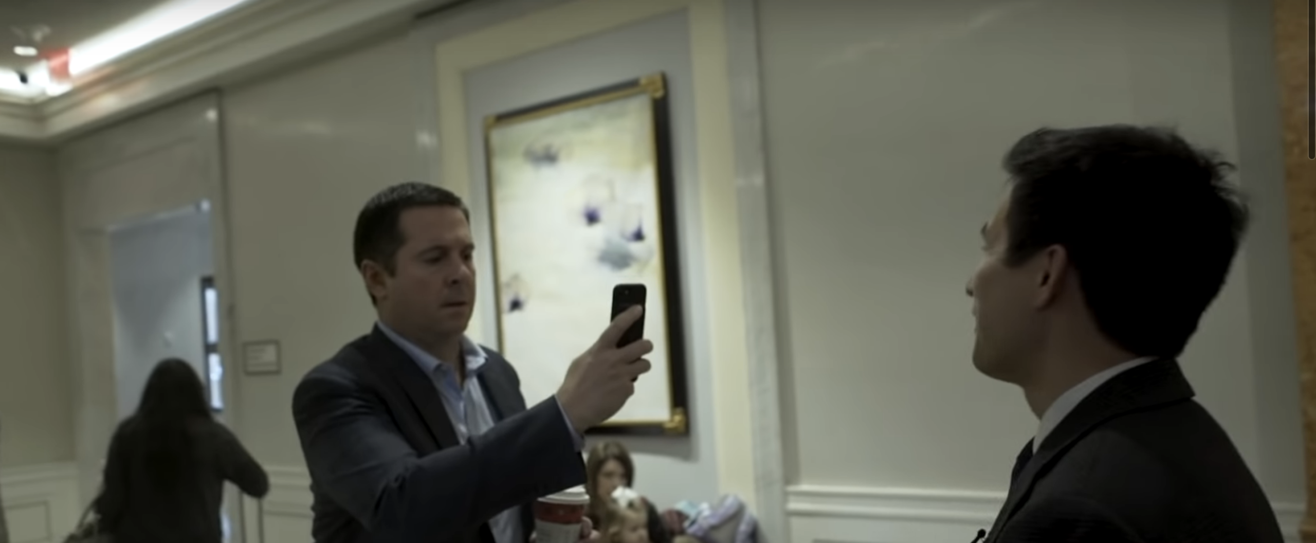 Devin Nunes Is Confronted About Ukraine And Instead Of Answering, He Starts To Film The Reporter