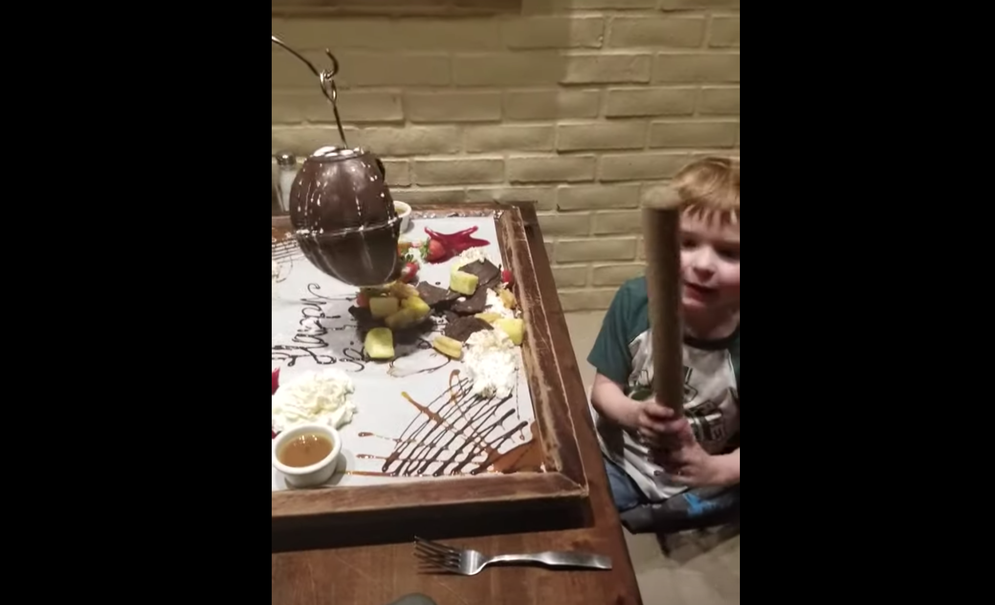 Boy Gets Chocolate Pinata For Birthday. Dad Comes In And Ruins The Day