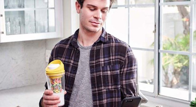 Have Your Cereal And Eat It, Too, With This $16 Portable Cup