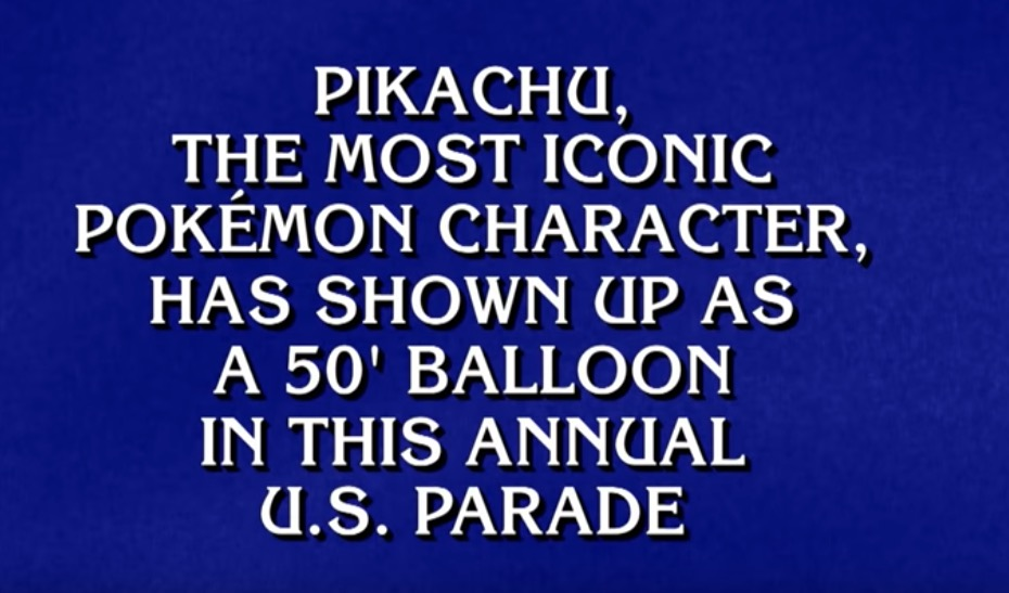 This 'Jeopardy!' Category About Pokémon Was Set On Elementary School Easy Mode
