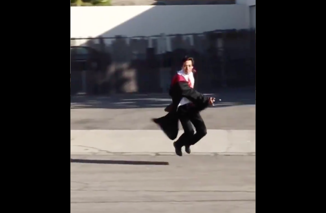 Guy Figures Out How To Fly Like A Wizard, Makes All Our Hogwarts Dreams Come True