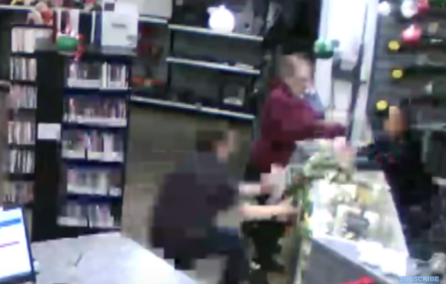 Guy With A+ Reflexes Catches A Baby Falling Off A Store Counter