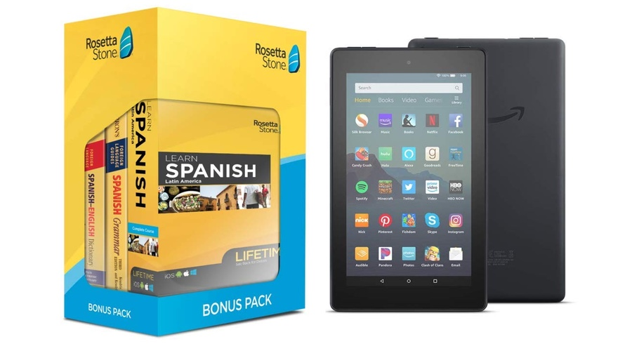 Digg Deals: Rosetta Stone Lifetime Online Access With Fire 7 Tablet For $150