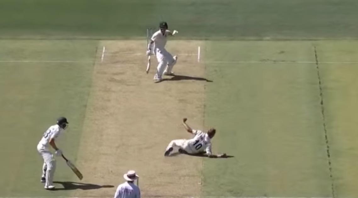 Cricket Bowler Pulls Off Unbelievable Close-Range Catch