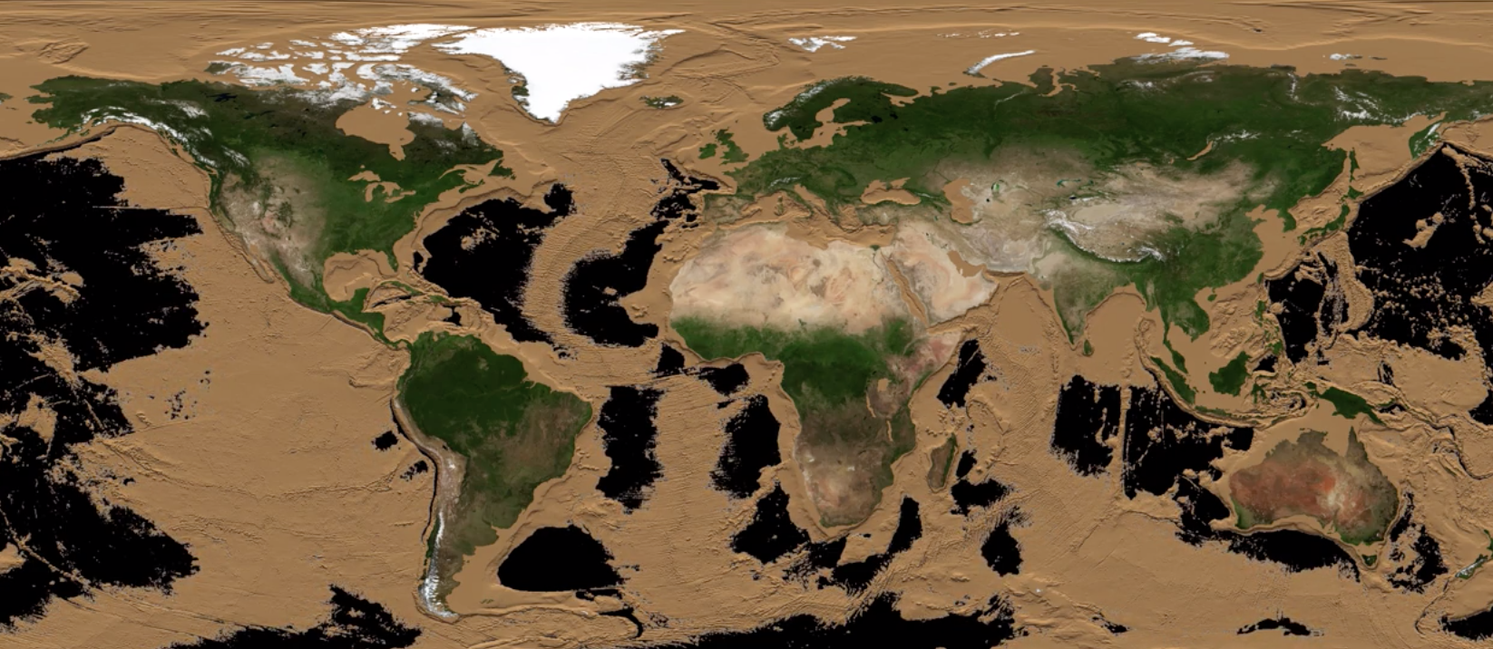 Visualizing What Earth Would Look Like If All The Oceans Were Drained