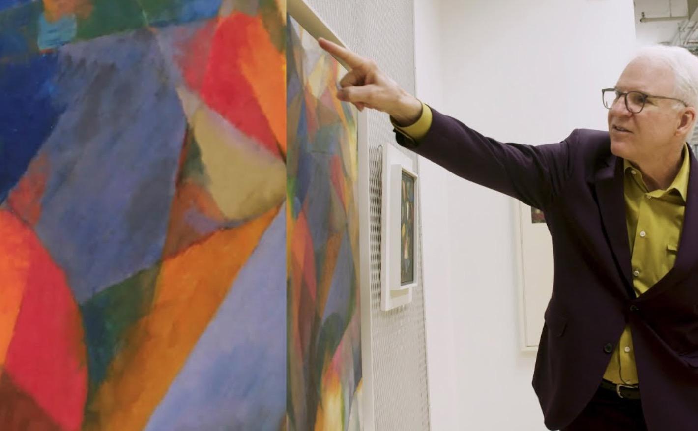 Steve Martin Explains How He Observes Abstract Art