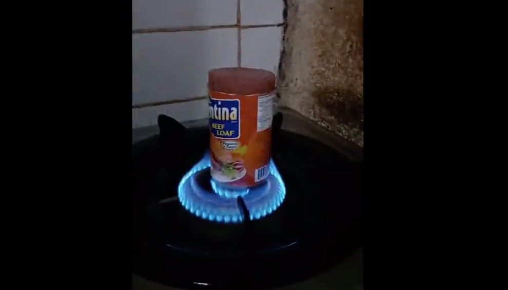 Here's A Brilliantly Gross Hack For Removing Meatloaf From A Can
