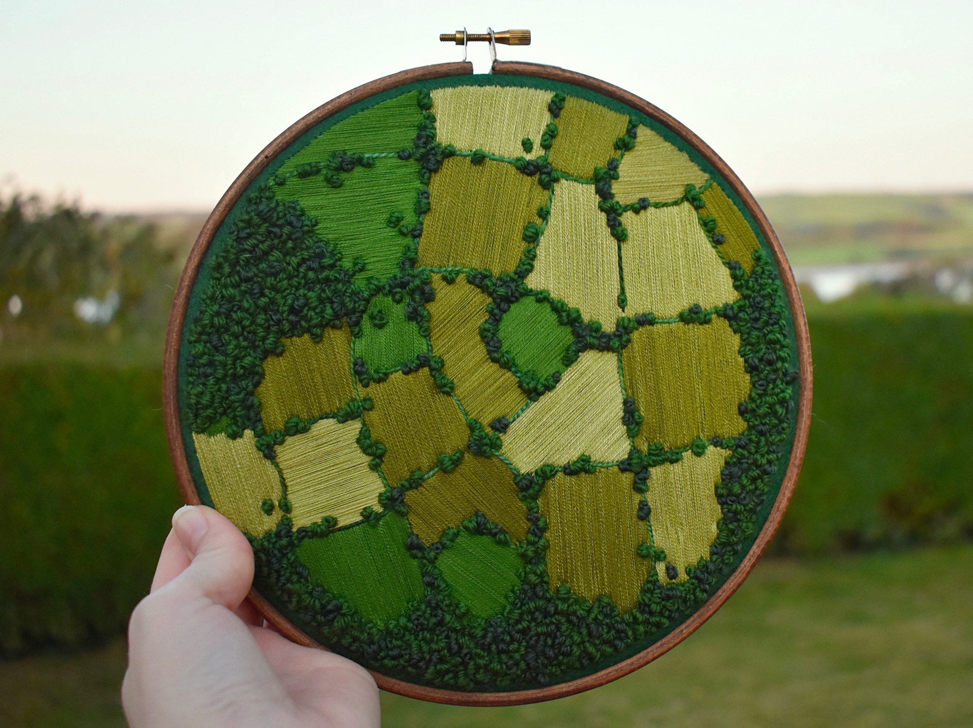 Aerial Embroidery Showcases The Hidden Patterns Of Cultivated Farmland