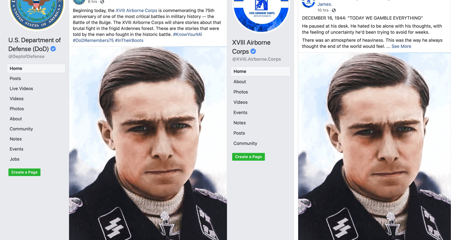 On The Anniversary Of The Battle Of The Bulge, The Department Of Defense's Official Facebook Page Featured A Compassionate Story About… A Nazi?