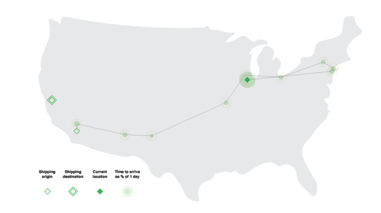 Guy Gets Fed Up With The Circuitous Route His FedEx Package Is Taking, So He Charted His Package's Journey On A Map