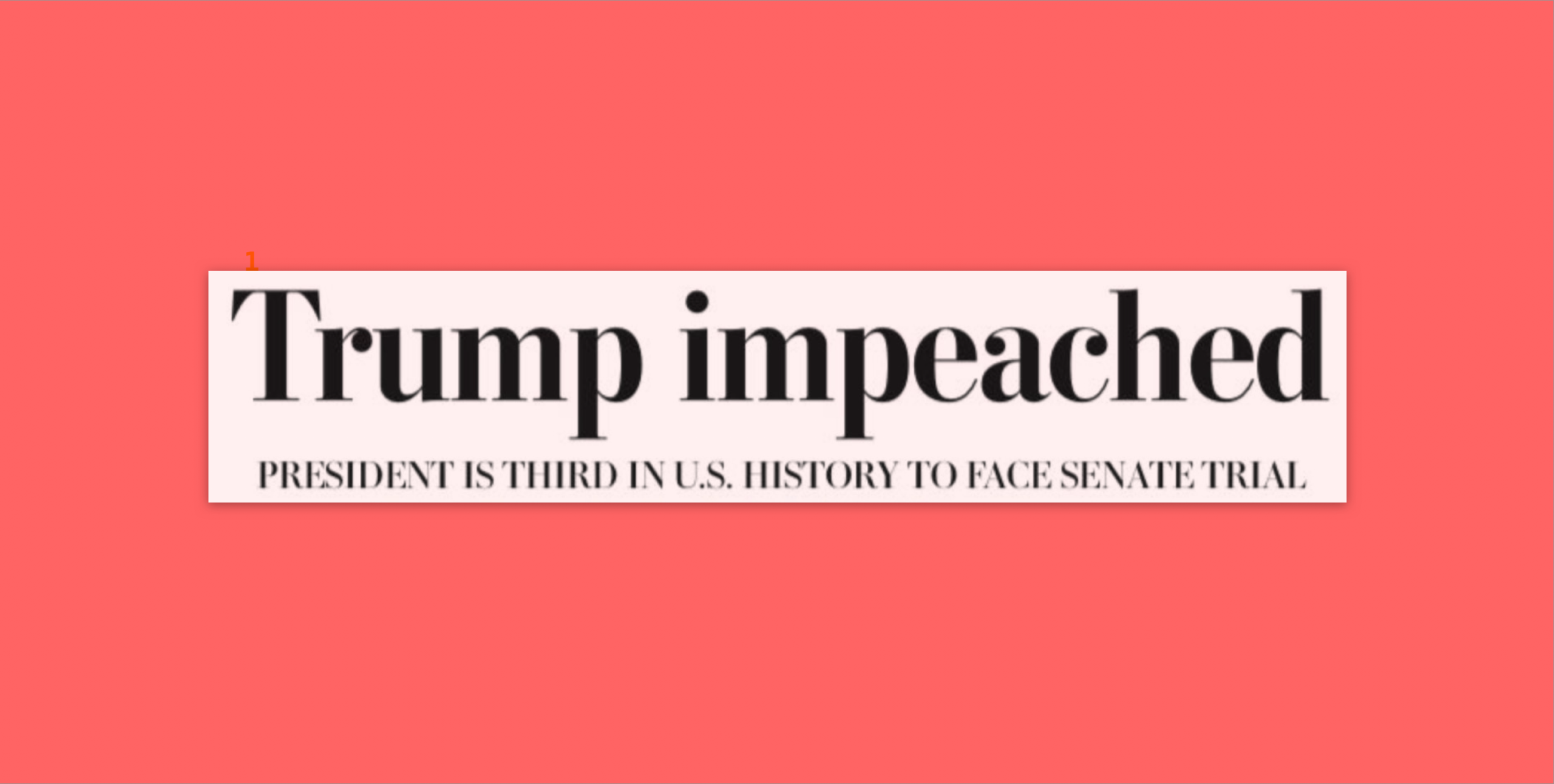 How Major Newspaper Front Pages Covered The Historic Impeachment Vote