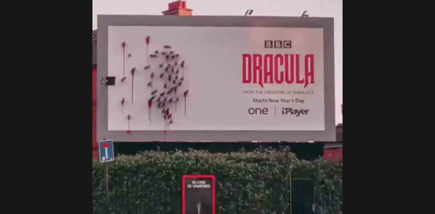 Timelapse Reveals How Clever This Billboard Ad For The BBC's 'Dracula' Is