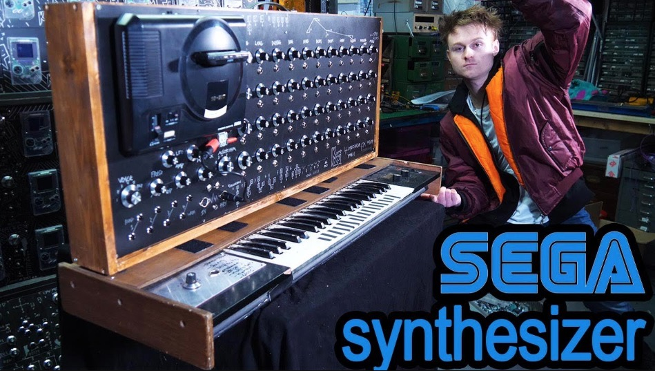 Hyper-Caffeinated YouTuber Builds A Sega MegaDrive Synthesizer From An Old Sega Console
